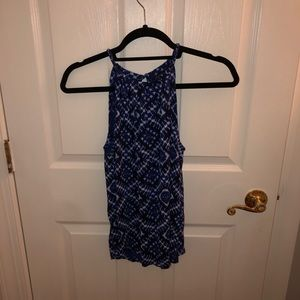 Blue and white lucky brand tank size XS